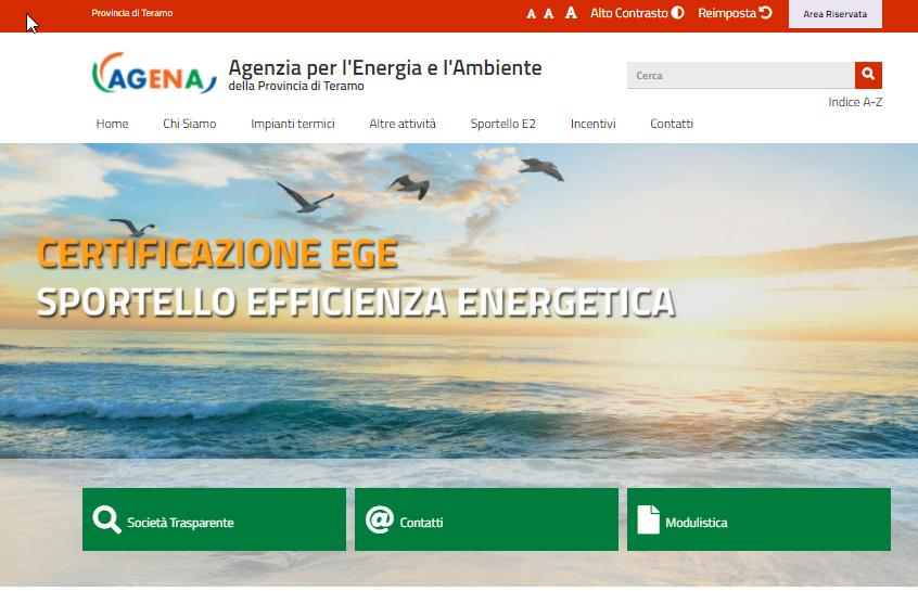 Nuovo sito web di AGENA a norma Accessibilità Privacy e Design PA